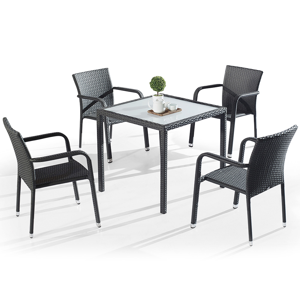 Outside Rattan Table Chairs Set